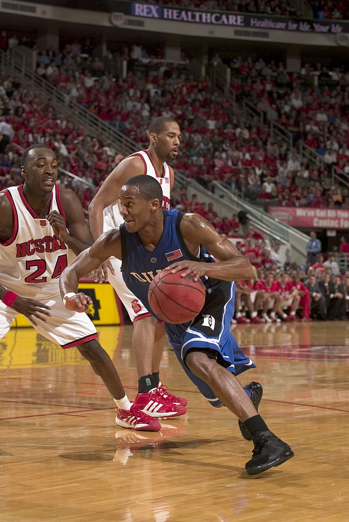 c404e44cae83 College Basketball - Duke Sean Dockery against NC State Julius Hodge ...