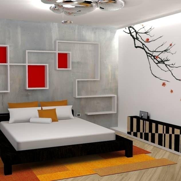 japan house (camera da letto) : Camera da letto in stile asiatico di michel marchesi design