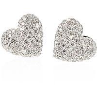 Diamantøredobber Hjerte 0,66 carat | Cuore - Cuore Diamantøredobber 0,66ct tw/vs