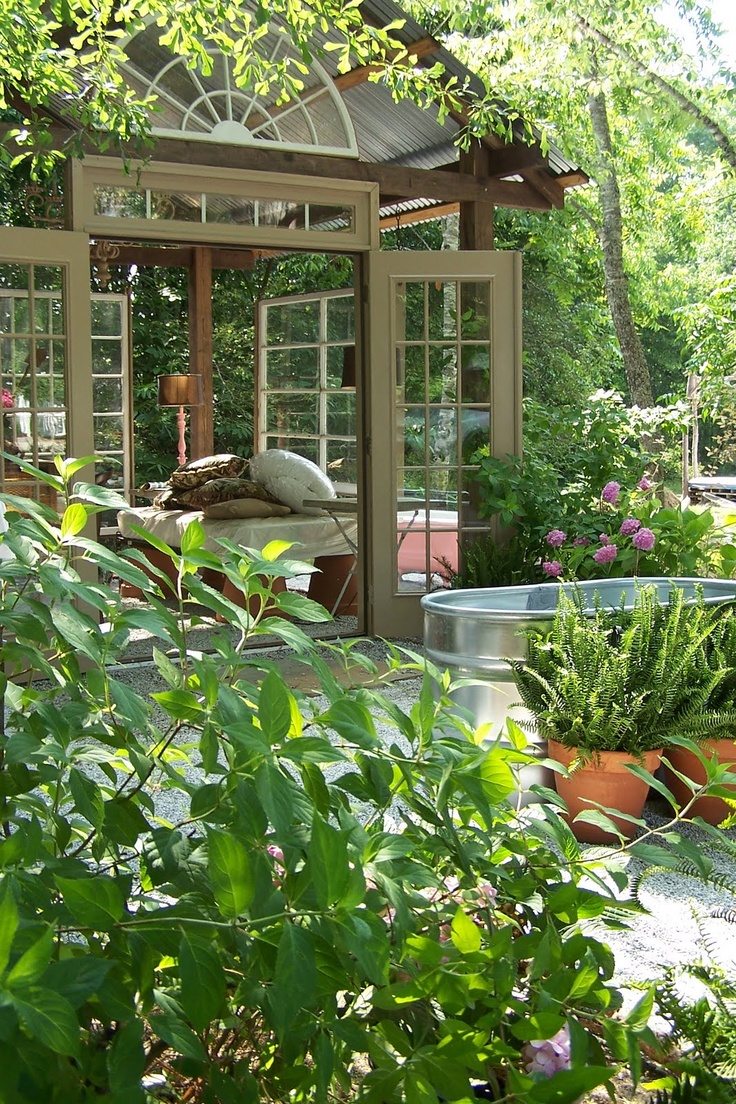 Tara DillardBeautiful Sunrooms, Backyards Someday, Outdoor Room, Green House, Outdoor Spaces, Outdoor Area, Glasses House, Reading Room, Gardens Room