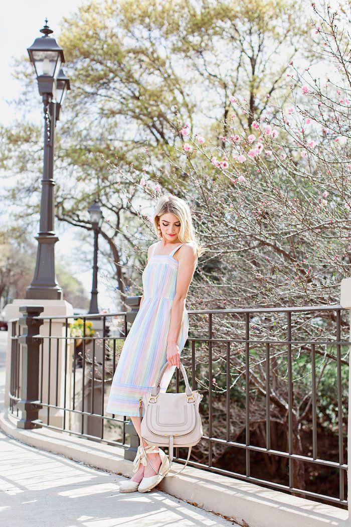 8a0bc5f568 Robe droite fluide robe longue moulante femme comment s'habiller l ete  couleurs pastel rayé robe mignonne