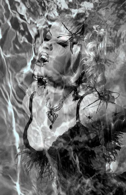 Black and white fantasy art
