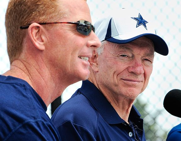 Dallas Cowboys owner Jerry Jones & Head Coach Jason Garrett