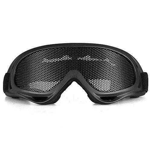 CARCHET® Lunettes Protection de yeux Sécurité treillis grillage métallique Camping Airsoft Combat Jeux CS Tactique ski: 1. Grillage en…