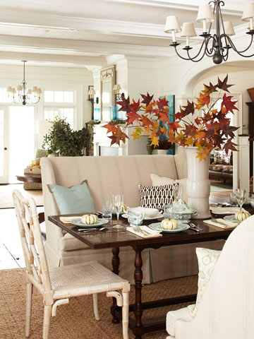 Dining Room Decorating Ideas For Fall. Use These Fall Decorating Tips  Create A Dining Room That Is Perfect For Autumn Entertaining.