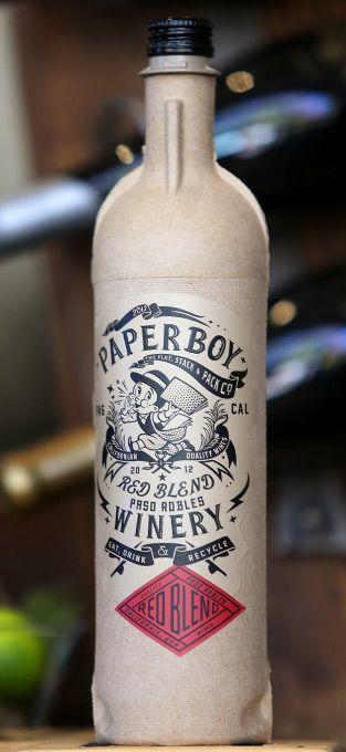 """The Green Case for Putting Wine Into Cardboard"" Bottles - Businessweek featuring Stranger & Stranger's Paperboy wine"