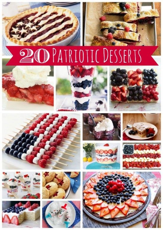 20 Patriotic Dessert RecipesQuinoa Recipe, Desserts Recipe, Easy Recipe, Dessert Recipes, July Desserts, 4Th Of July, Get Fit, Thanksgiving Desserts, Food Recipe