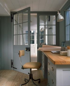 Glazed Wooden Screens - industrial - Home Office - Other Metro - Plain English; palette and vibe