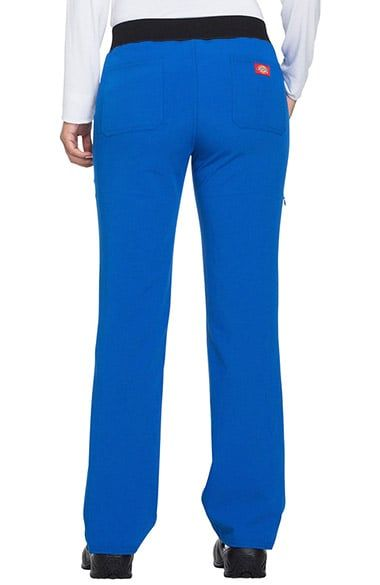 Enjoy ultimate flexibility from the Xtreme Stretch by Dickies Women's Drawstring Straight Leg Scrub Pant. A reinforced waistband provides extra support without restricting movement.Junior contempor...