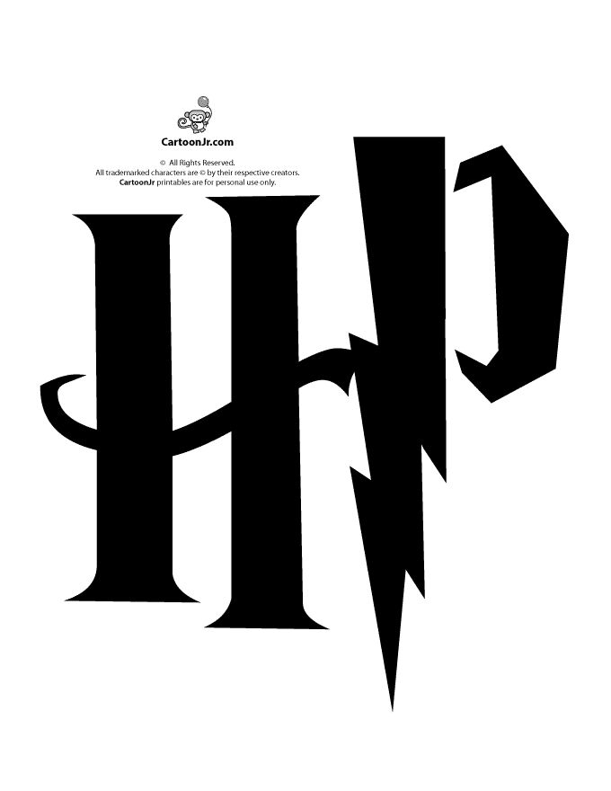 Harry Potter Pumpkin Patterns Harry Potter HP Logo Pumpkin Stencil – Cartoon Jr.