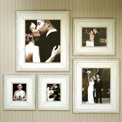 obrien schridde elegant frame - collage on wall opposite mirror/console   #LGDreamFoyer