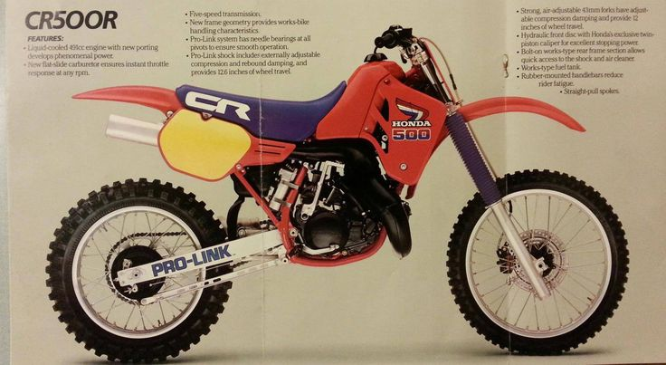 1986 Honda Cr500 Ad Cr500 Pinterest Honda Motocross And