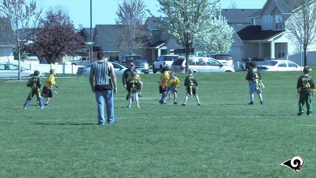 Rams vs Packers Flag football