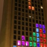 The geeks at MIT and I use that term with pride, hacked into the lighting system at the Green Building on the MIT campus and reprogrammed it to play the worlds biggest game of Tetris.