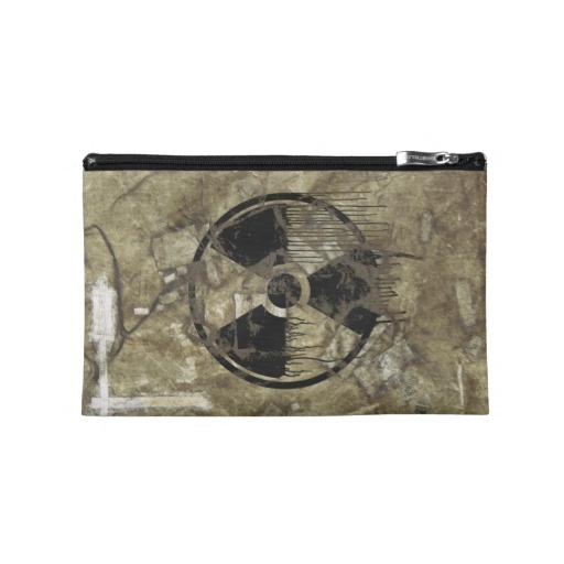 AFTERMATH TRAVEL ACCESSORY BAG. A Post-apocalyptic, fully customizable design by BannedWare.