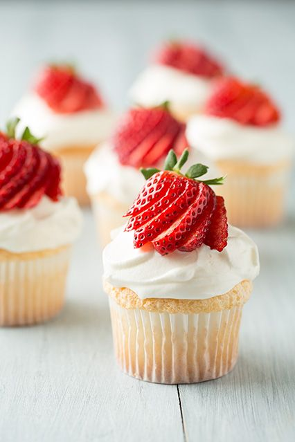 Angel Food Cupcakes | Cooking Classy    Cream Cheese Whipped Cream Topping  1 1/2 cups heavy whipping cream  6 oz cream cheese, softened  1/2 cup powdered sugar