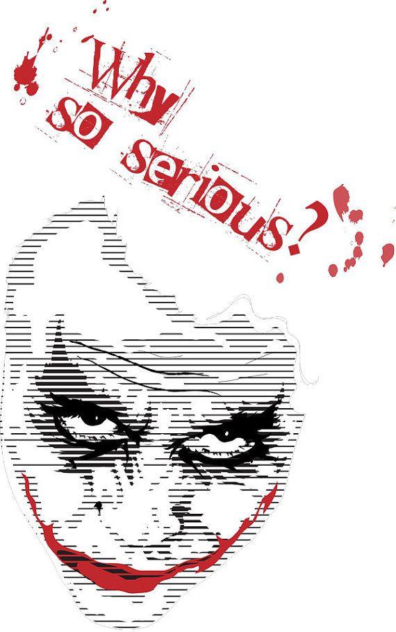 https://www.etsy.com/treasury/MzAyNTI0OTl8MjcyNDkyNDIxNA/alittle-red-alittle-black The Joker heath ledger batman Why So Serious tee by xMURDERWEARx, $13.00