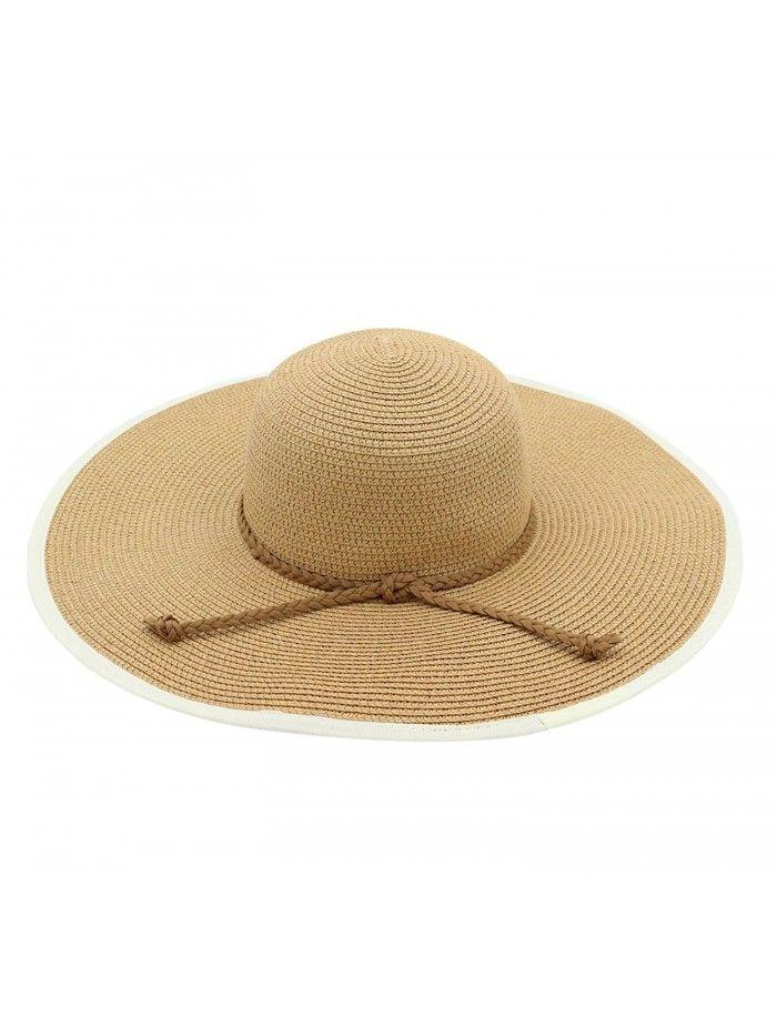 2767987877a Women s Summer Straw Sun Hat Floppy Large Wide Brim Beach Cap ...