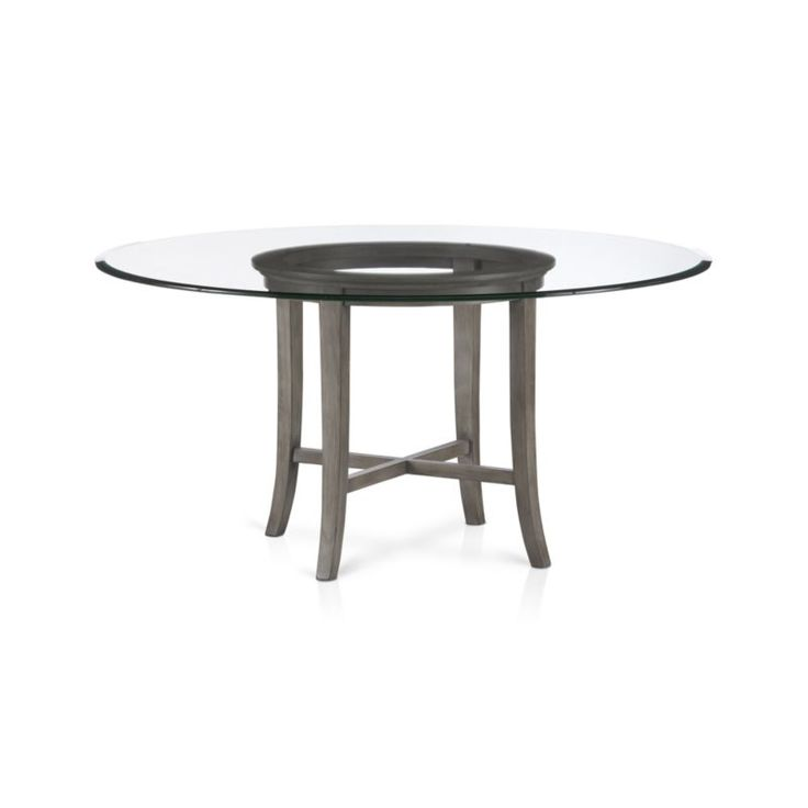 Halo Grey Round Dining Table With 60 Glass Top