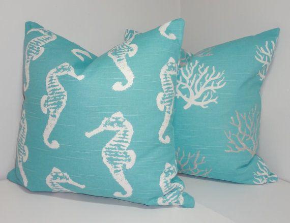 Satz von 4 dekorative Abdeckungen Seestern Seepferdchen