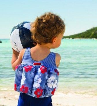 Maillot bouée bébé - HAWAII ROUGE - Archimède