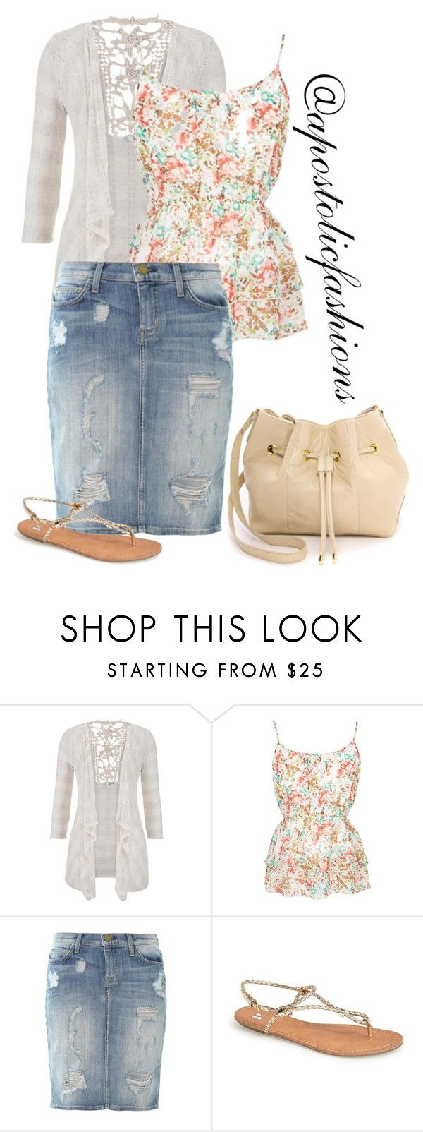"""Apostolic Fashions #1289"" by apostolicfashions on Polyvore featuring maurices, Current/Elliott, BP. and Lauren Merkin"
