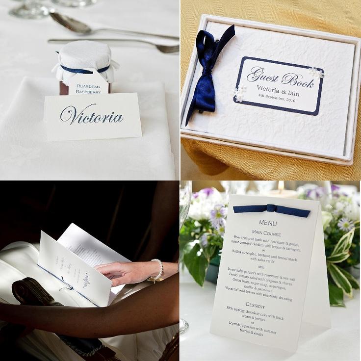 Blue Wedding Stationery