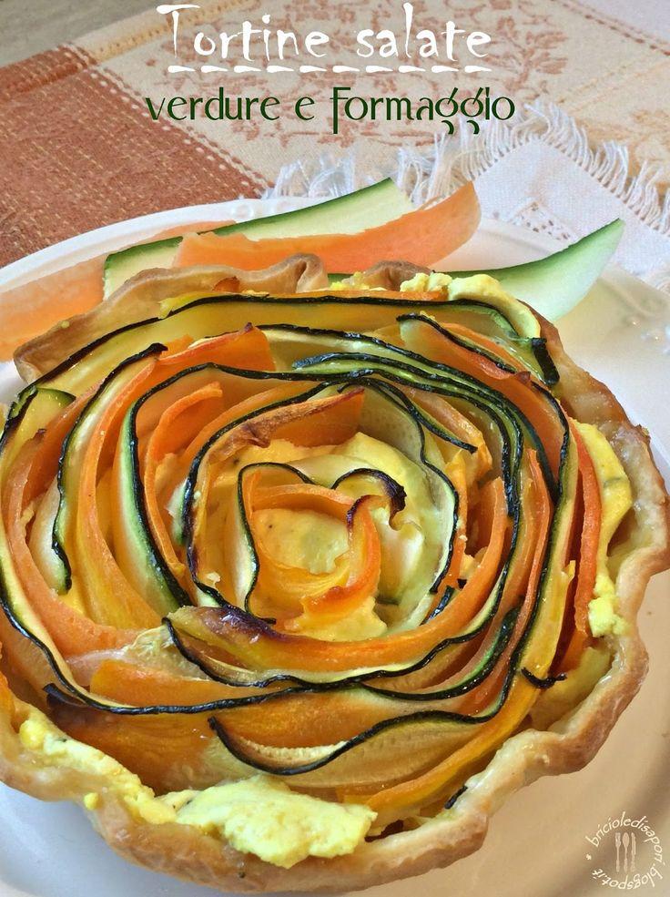 Briciole di Sapori: Tortine salate con verdure e formaggio. La primave...