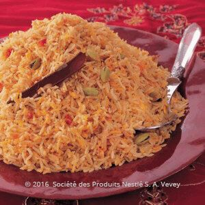 Recipe - Yemeni Rice - Heat ghee in a large saucepan, add and cook onions for 4 minutes until tender. .