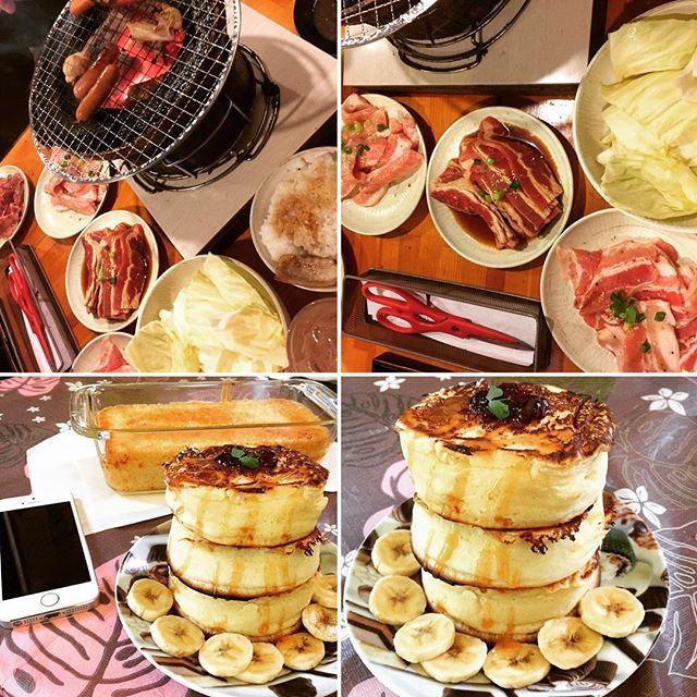 昨夜は旦那が焼肉食べたいゆーから近所の七輪焼肉行ったよ🍴 朝、厚焼きパンケーキとまたまたバナナケーキ作った🍌 パンケーキ3段重ね&キャラメルソースがけ🥞 かなり厚焼きふわふわにできて我ながら上出来💕笑 社用iPhoneよーやく届きましたん📱 あとは事務所の固定電話☏届くの待つだけー👌 . #のぞ先生 #焼肉 #肉 #パンケーキ #バナナケーキ #手料理 #手作り #食べ放題  #夕飯 #夕食 #晩御飯 #晩ごはん #おいしいもの #ふたりごはん #料理 #dinner #新婚  #妊活 #ベビ待ち #大盛り #yummy #料理好き #料理好きな人と繋がりたい #食べるの大好き #cooking #food #foodstagram #japanesefood #朝食 #毎日更新中