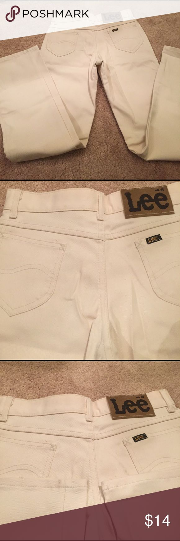 Brand new never worn never washed Lee jeans. Brand-new white Lee jeans never worn never washed in excellent condition. They are going to be a steal at $14 lee Jeans Straight Leg