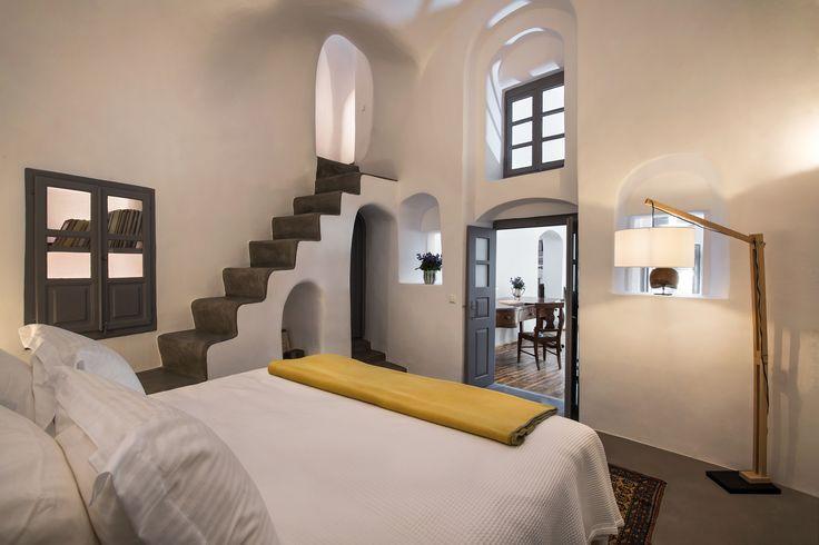 #bedroom #interiors #cocomat #bedmatress #Santorini #Oia #Aerie-Santorini #home #relaxation #architecture #minimalism