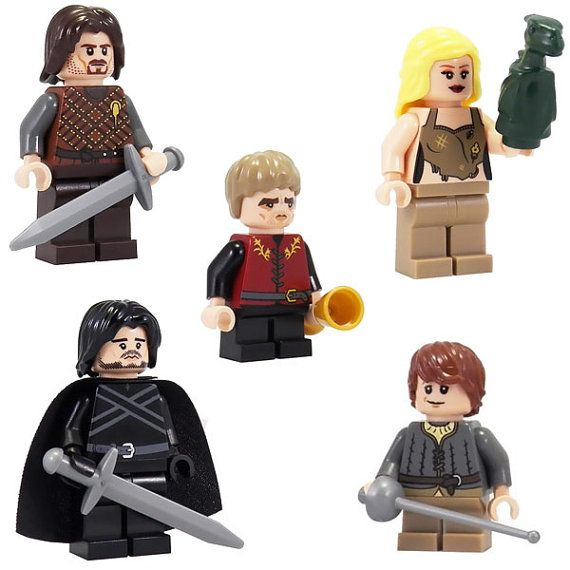 Game of Thrones: Series 1 Set (5 Minifigs) - Custom miniBIGS Minifigures - 100% LEGO Compatible on Etsy, $86.13 CAD