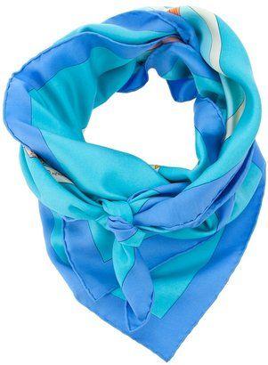 ShopStyle: Hermes Vintage printed scarf