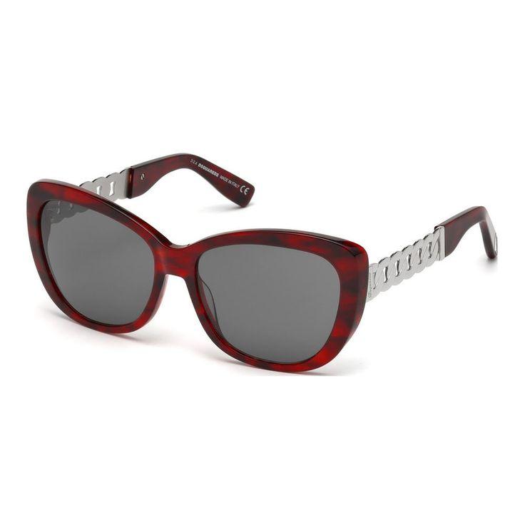 lunettes de soleil femme rouge Dsquared2 sunglasses