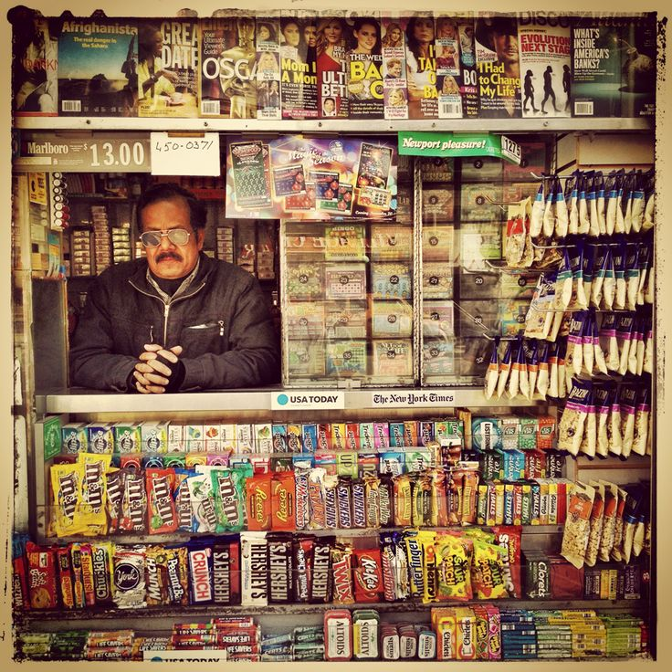 This Instagram photo series fits perfectly with the square-format, don'tcha think? Trevor Traynor shot these for his NewsStand Project! He's photographed newsstands in Lima (bottom), Barcelona, New York, and Paris. For the curious, he edited using Snapseed and PicFx. Find him at @ishootpeople on Instagram.
