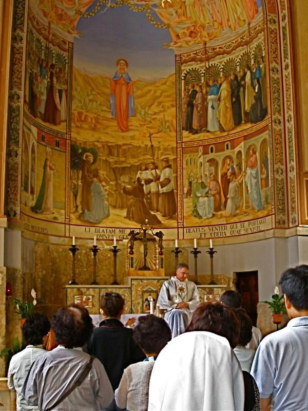 Upper church in the Church of the Visitation, Ein Karem « See The Holy Land