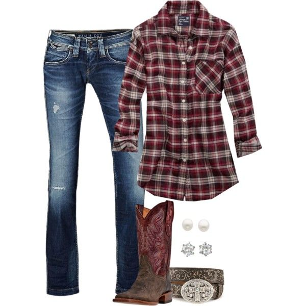 Plaid(:, created by hotcowboyfan on Polyvore