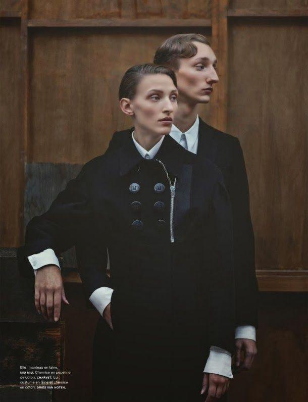 Publication: Numéro Homme Photography: Julia Hetta Models: Tom Gaskin and Maggie Maurer Stylist: Hannes Hetta