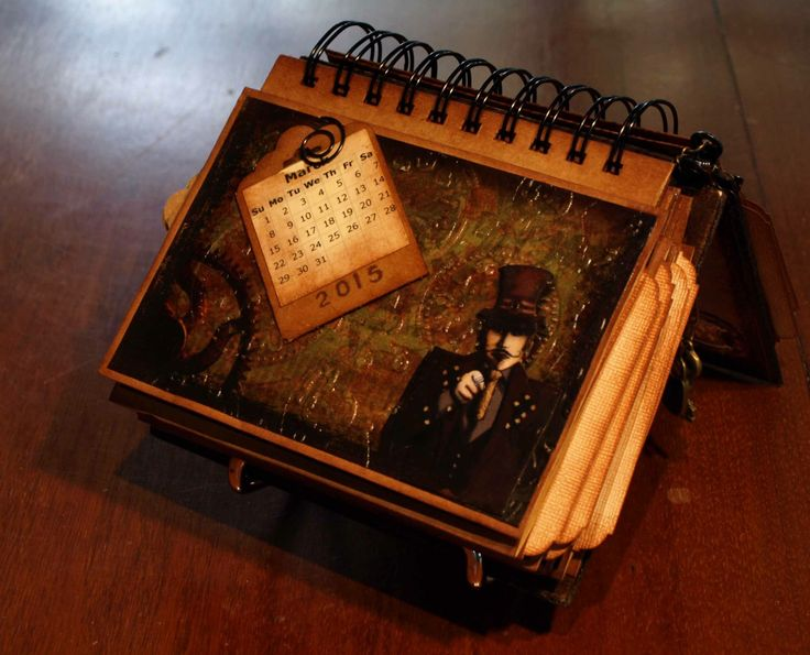 The Dellamortika Desk Calendar V1 sample page.