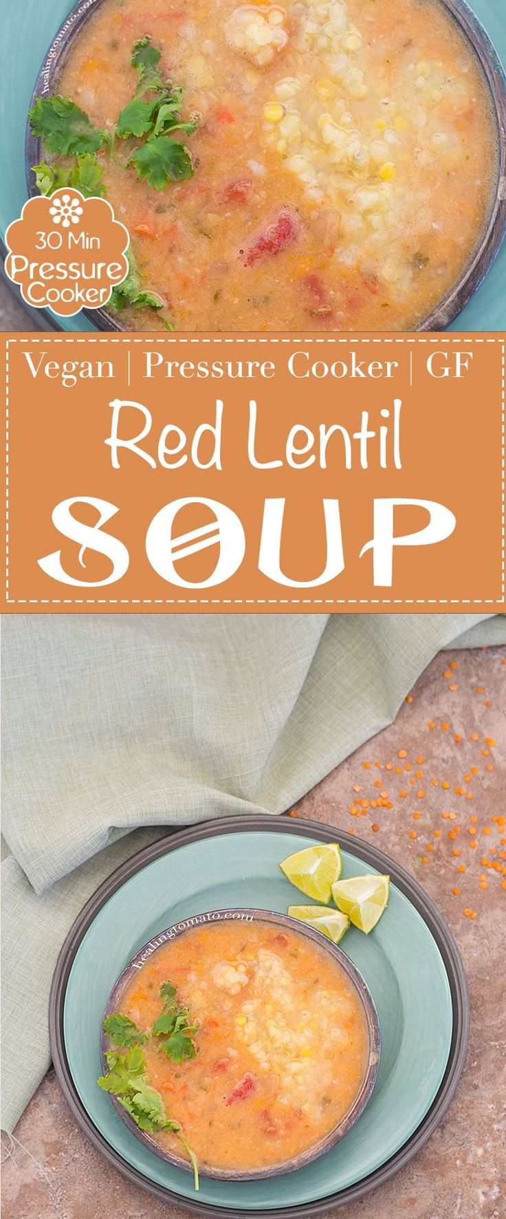 Red Lentil Soup is really easy to make in a pressure cooker. Dump all your leftover vegetables into it along with red lentils and pressure cook them for 20 minutes. Its the easiest one-pot recipe to make and very little cleanup required