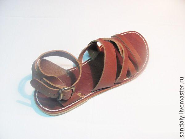 Купить Греческие сандалии №24 - коричневый, сандалии из кожи, летняя обувь, натуральная кожа