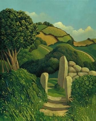The Kissing Gate, by Jo March. http://www.redraggallery.co.uk/print-jo-march.asp