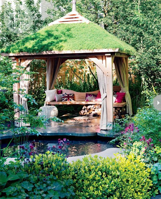 Modern Garden Gazebo : Modern garden gazebo  relaxing with the birds  Pinterest
