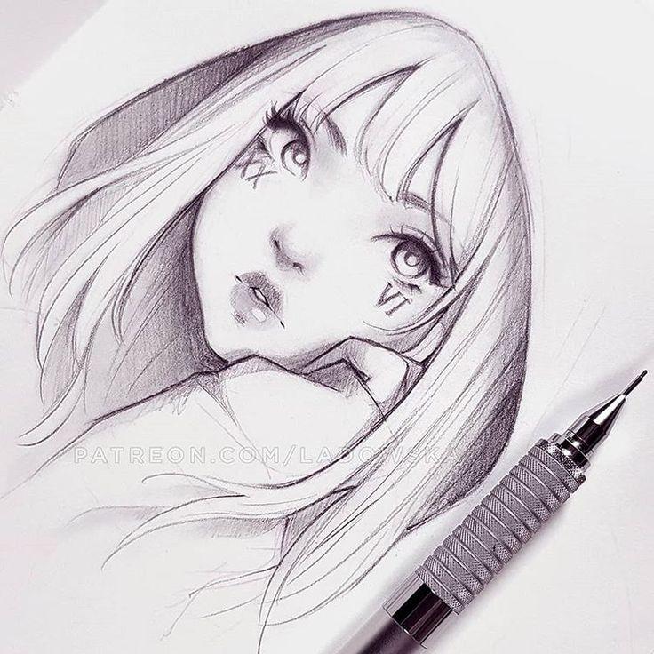 Рисунки аниме карандашом профи