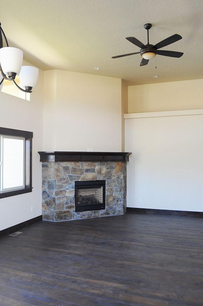 Clean lines on this fireplace in our Radiant Lake Neighborhood.