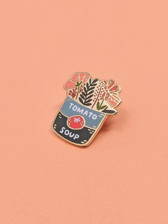 804cdf8a63a Tomato Soup Bouquet Enamel Pin | Hard Enamel, Enamel Pin, Lapel Pin, Flair, Flower  Enamel Pin, Floral Enamel Pin, Gifts for Florist