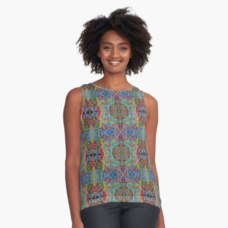 """""""Rainy Sunday on High Ground"""" Contrast Tank by melasdesign https://www.redbubble.com/people/melasdesign/works/30351260-rainy-sunday-on-high-ground?asc=u&gid=1&p=contrast-tank&pid=1&rel=carousel%23&utm_campaign=crowdfire&utm_content=crowdfire&utm_medium=social&utm_source=pinterest #melasdesign #style #fashion #shopping #fashionstyle #boho #fashionista #hippie #tanktop #psychedelic"""