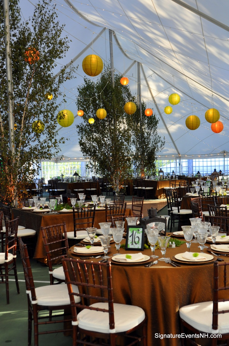 We transformed a tennis court for this wedding reception!