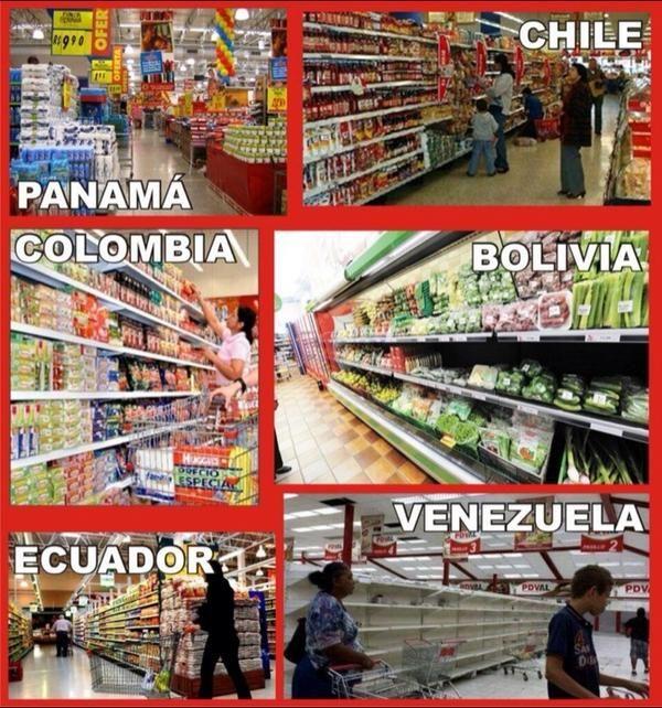 REVOLUCIÓN CHAVISTA FRACASO QUEBRÓ A VZLA Y HABLAN POTENCIA ECONOMICA Y CAMBIA COMIDA X PETROLEO